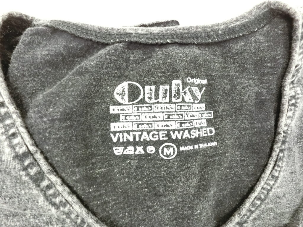 ouky vintage wosh tshirt black logo