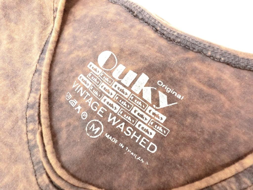 ouky vintage wosh tshirt brown logo