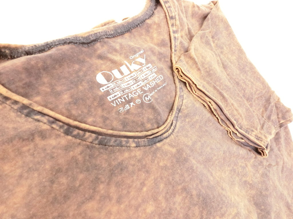 ouky vintage wosh tshirt brown view