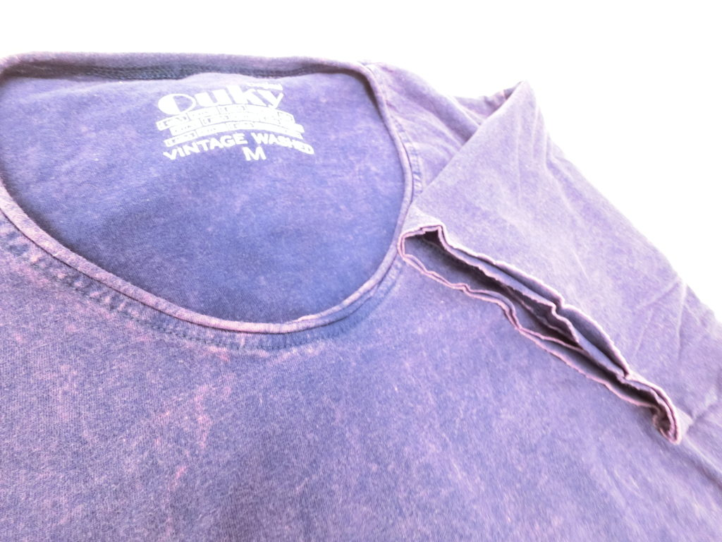 ouky vintage wosh tshirt deep purple view