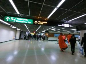 ドンムアン空港到着直後