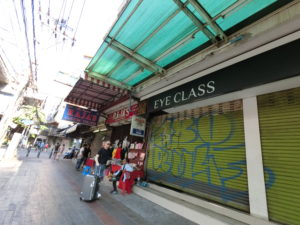 バンコク市街の歩道