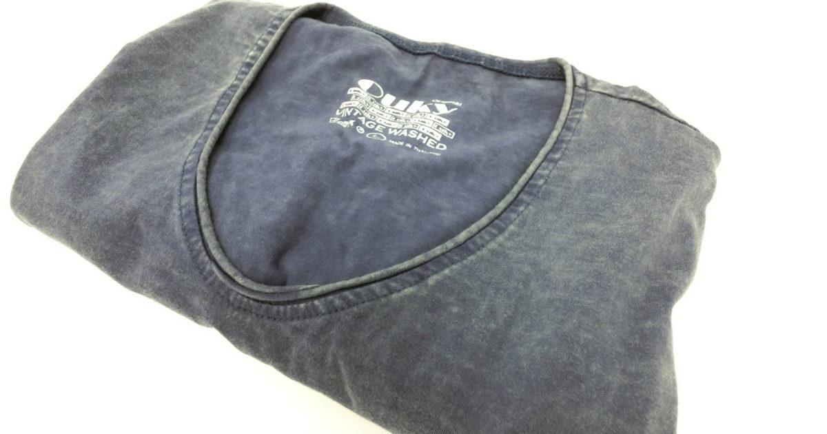ouky vintage wosh tshirt navy