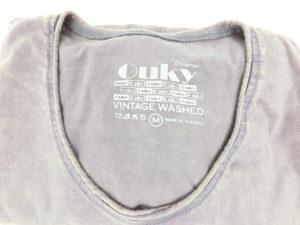 ouky vintage wosh tshirt gray logo