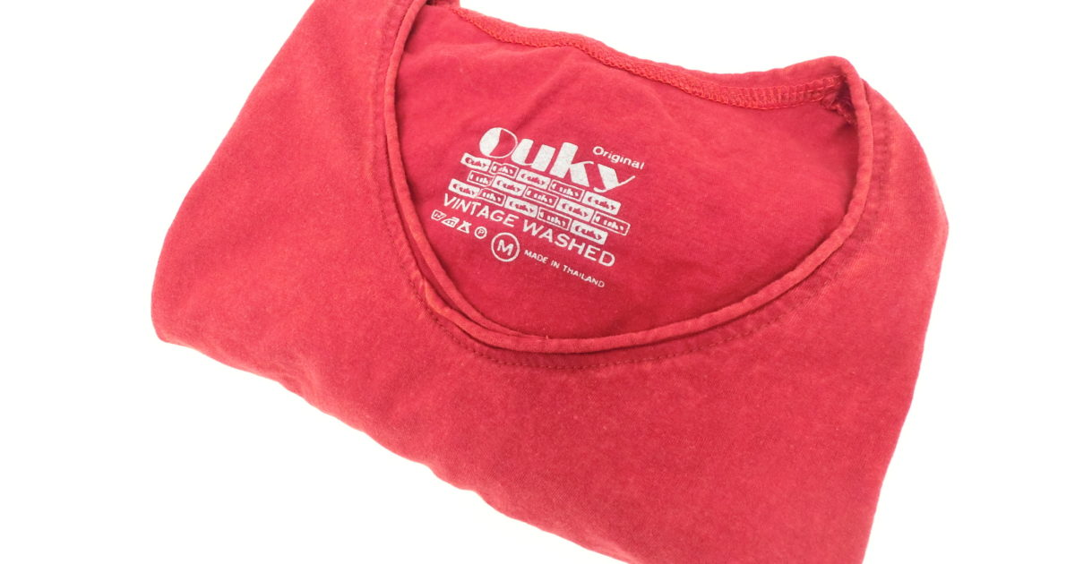 ouky vintage wosh tshirt red