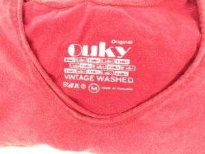 ouky vintage wosh tshirt red logo