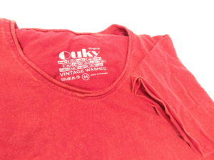 ouky vintage wosh tshirt red view