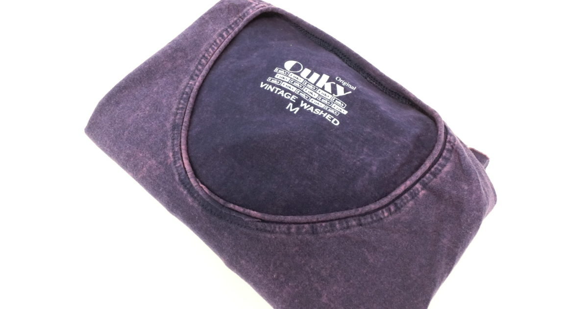ouky vintage wosh tshirt deep purple