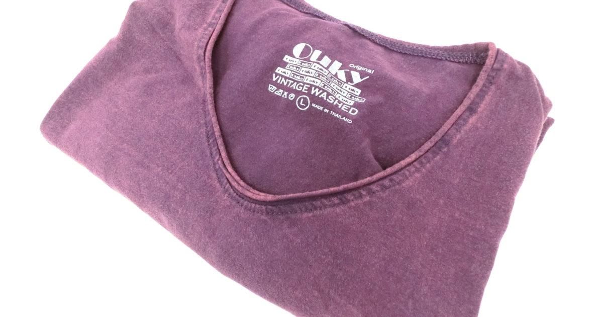 ouky vintage wosh tshirt purple