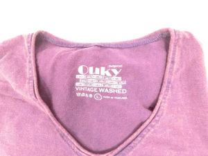 ouky vintage wosh tshirt purple logo