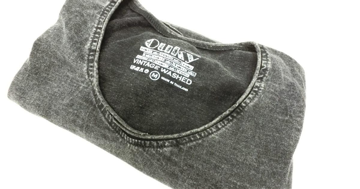 ouky vintage wosh tshirt black