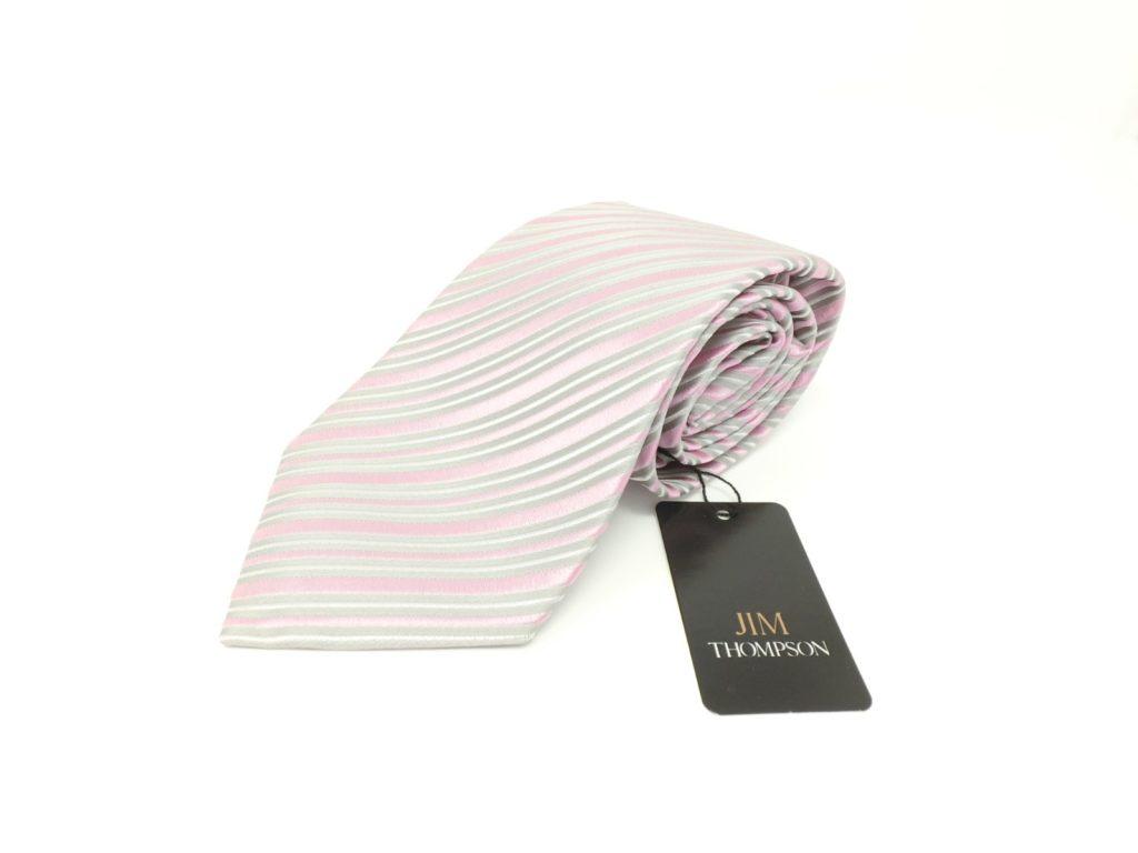 jimthompson-thai-silk-tie-pink-stripe