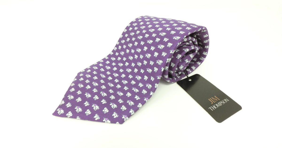 jimthompson-thai-silk-tie-dot-elephant-pattern-purple