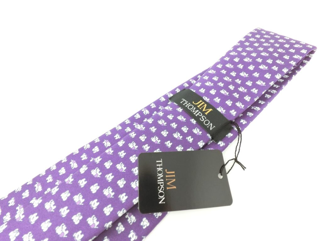 jimthompson-thai-silk-tie-dot-elephant-pattern-purple-view