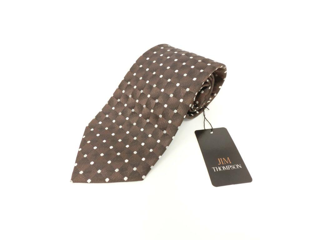 jimthompson-thai-silk-tie-dot-dark-brown