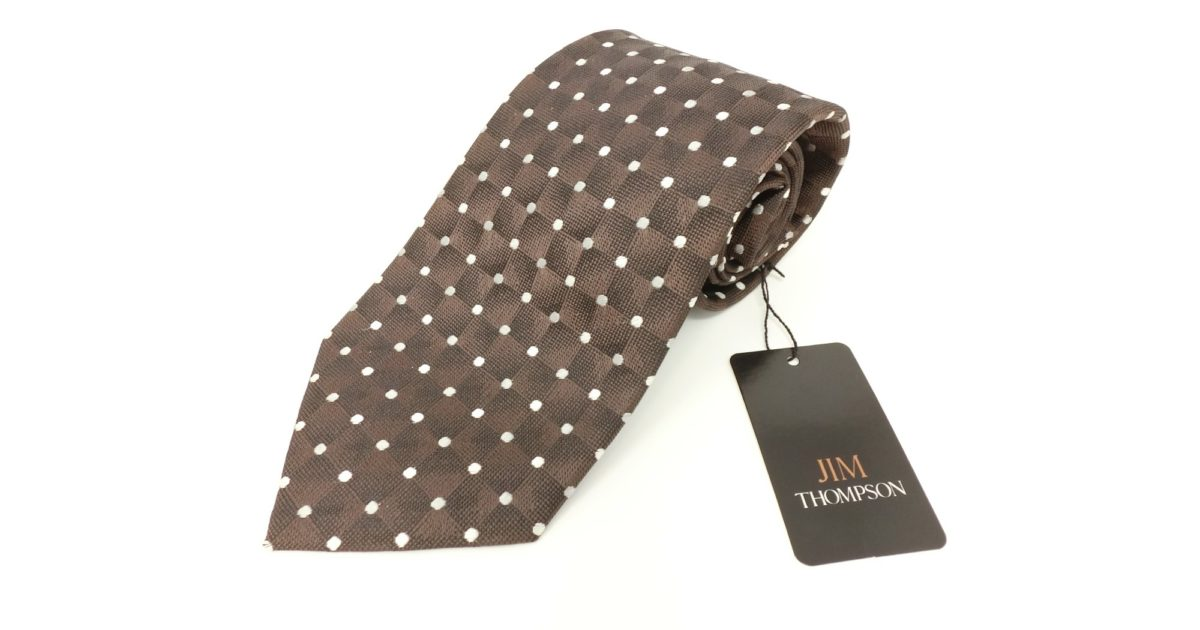jimthompson-thai-silk-tie-dot-dark-brown
