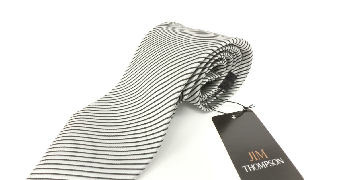 jimthompson-thai-silk-tie-black-stripe-silver