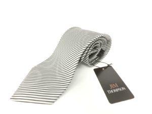 jimthompson-thai-silk-tie-black-stripe-silver