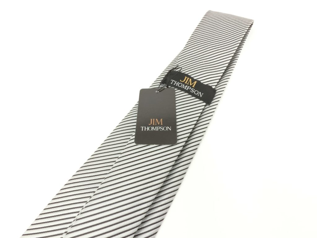 jimthompson-thai-silk-tie-black-stripe-silver-view2