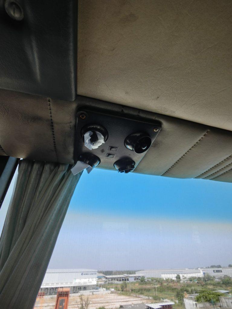 パタヤ行のバス 冷房効きすぎ