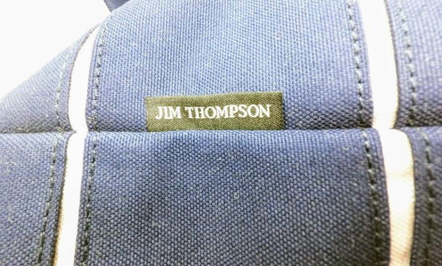 JIM THOMPSON トートバッグ ネイビー tag