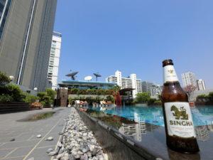 ルアムチットホテル 屋上プール